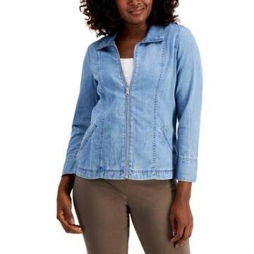 Karen Scott Petite Denim Jacket, Created for Macy's