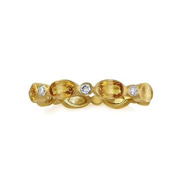 14Kt Yellow Gold 1 1/4 ct. Yellow Sapphires and Diamonds Band Ring by Beverly Hills Charm (7)
