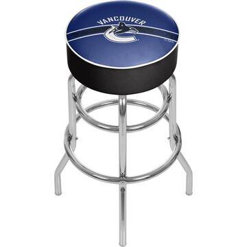 Trademark Gameroom Vancouver Canucks Bar Stools Chrome Bar height (27-in to 35-in) Upholstered Swivel Bar Stool | NHL1000-VC2