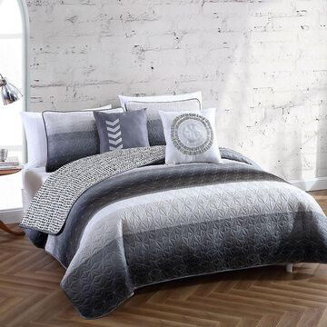 Avondale Manor Cypress 5-piece Quilt Set, Black, King