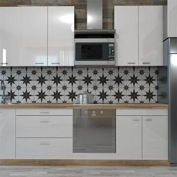 SomerTile 9.75x9.75-inch Cilento Nero Porcelain Floor and Wall Tile (16 tiles/11.11 sqft.)