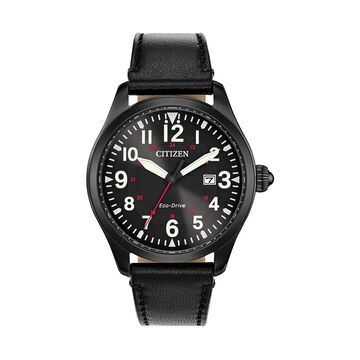 Citizen Men's Eco-Drive Leather Watch - BM6835-15E