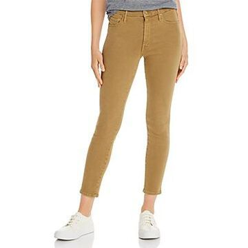 Mother Looker High-Rise Ankle Skinny Jeans in Prairie