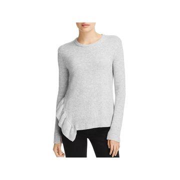 Derek Lam 10 Crosby Womens Pullover Sweater Ruffled Wool Blend