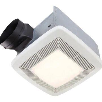 Broan 1.4-Sone 150-CFM White Lighted Bathroom Fan ENERGY STAR   QTXE150FLT