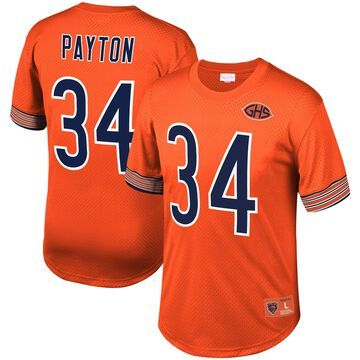 Mitchell & Ness Walter Payton Chicago Bears Orange Retired Player Name & Number Mesh Crew Neck Top