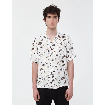Club Pacific Button Up Shirt in Club Pacific Print/Wax
