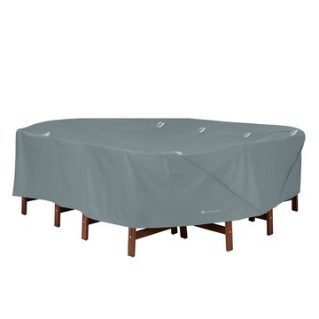 Storigami Easy Fold Large Rectangle/Oval Table & Chairs Cover Monument Gray - Classic Accessories