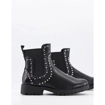 Truffle Collection studded ankle boots in black