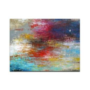 """Ready2HangArt 'Currents 1' Abstract Canvas Wall Art, 20x30"""""""