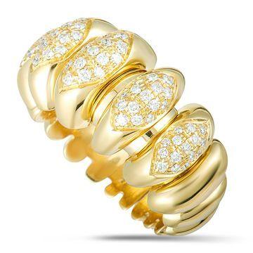 Bvlgari Celtaura Yellow Gold Diamond Band Ring