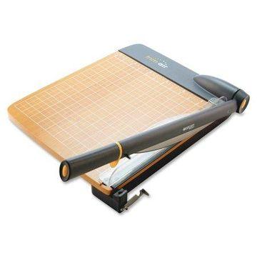 Westcott TrimAir Titanium Guillotine Paper Trimmer, Wood Base, 15