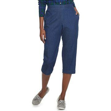 Petite Alfred Dunner Pull-On Capri Jeans