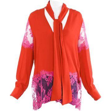 Msgm Red Silk Tops