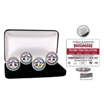 Highland Mint Tampa Bay Buccaneers Super Bowl LV Champions Victory Silver Mint Coin Set
