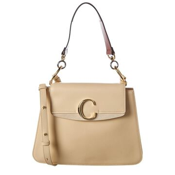 Chloe C Medium Leather & Suede Shoulder Bag
