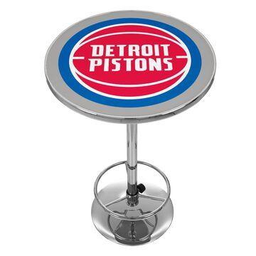 Trademark Gameroom Detroit Pis Pub Tables Red Round Bar Table, Composite with Metal Base | NBA2000-DP