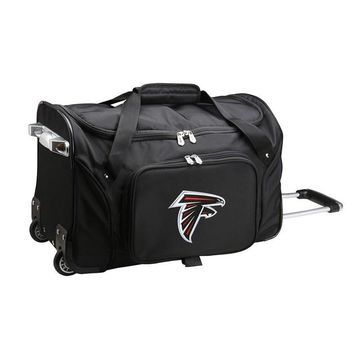 Denco Atlanta Falcons 22-Inch Wheeled Duffel Bag