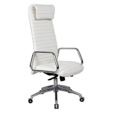 Fine Mod Imports Ox Office Chair With High Back, White