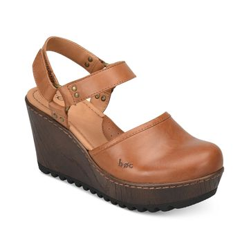 Rina Wooden Slingback Clogs