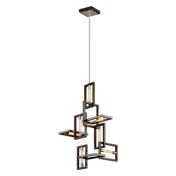 Troy Enigma 7-LT Pendant F6187 - Bronze With Polished Stainless