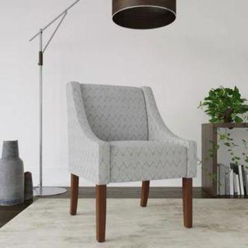HomePop Modern Swoop Accent Chair (Grey)