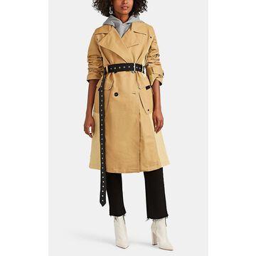 AVEC LES FILLES Colorblocked Cotton Trench Coat