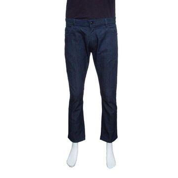 Z Zegna Indigo Dark Wash Straight Fit Denim Jeans XL