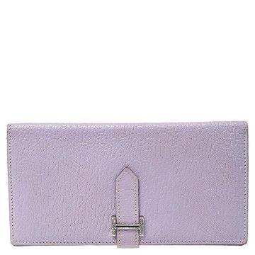 Hermes Glycine Clemence Leather Bearn Gusset Wallet