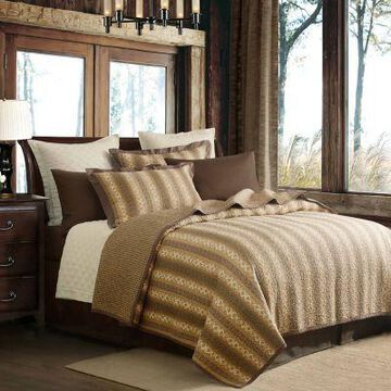 HiEnd Accents Hill Country Quilt Bedding Sets, 3-Piece