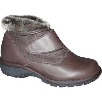 Toe Warmers Women's Secure Waterproof Cuff Boot Dark Brown Leather