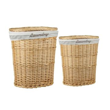 Home Basics 2-pack Natural Wicker Hamper