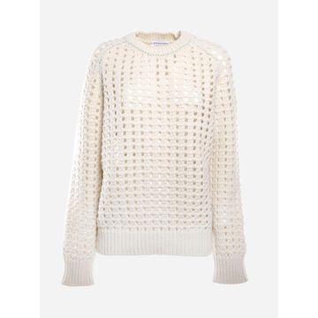 Bottega Veneta Wool Sweater With Perforated Details