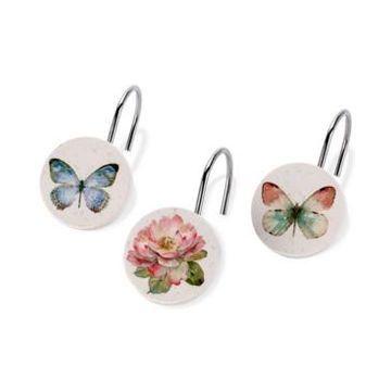 Avanti Butterfly Garden Shower Hooks Bedding