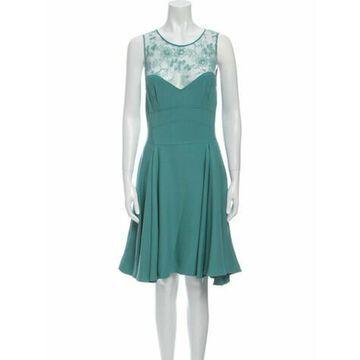 Scoop Neck Knee-Length Dress Green