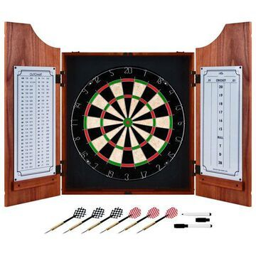 Beveled Wood Dart Cabinet Set by Trademark Gameroom