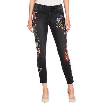 William Rast Womens Juniors Denim Mid-Rise Skinny Jeans