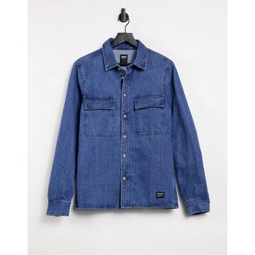 Dr Denim Titus denim shirt in blue-Blues