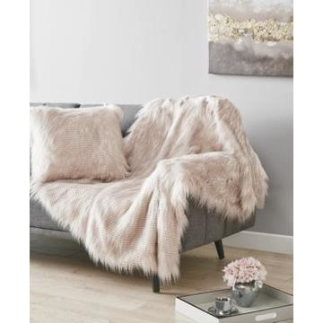 Martha Stewart Collection Longhair Faux Fur Throw, Created for Macy's Bedding