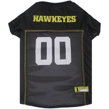 Pets First College Iowa Hawkeyes Collegiate Dog Jersey, Available in Various Sizes