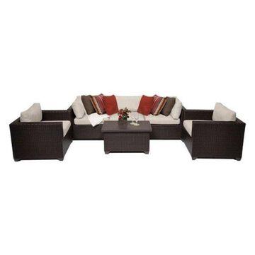 TK Classics Belle 6-Piece Outdoor Wicker Sofa Set, Beige