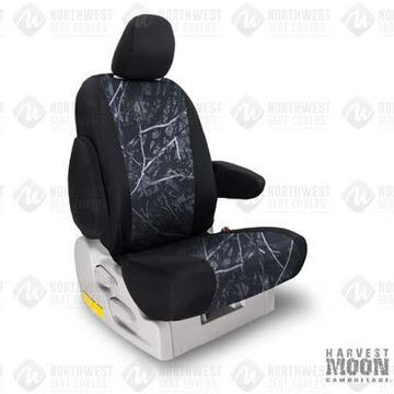 NorthWest Camo Seat Covers in Moon Shine Harvest Moon w/ Black Sides, 1st-Row Seat Covers