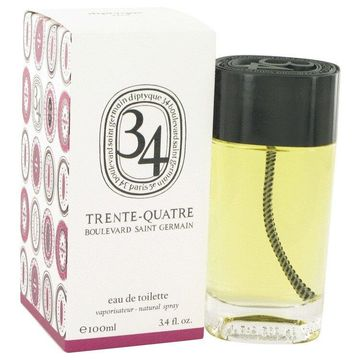 34 boulevard saint germain by Diptyque Eau De Toilette Spray (Unisex) 3.4 oz for Women (Package of 2)