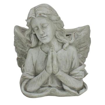 """11"""" Gray Praying Angel Bust Outdoor Garden Statue Planter By Northlight 