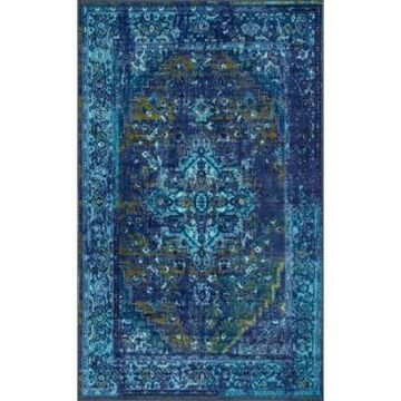 nuLoom Giza Vintage-Inspired Persian Reiko Blue 5' x 8' Area Rug