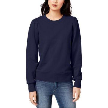 maison Jules Womens Blouson-Sleeve Sweatshirt