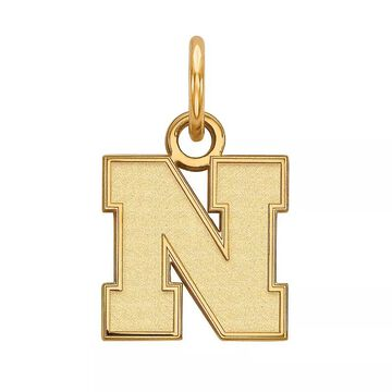LogoArt 10K Gold Nebraska Cornhuskers Pendant, Women's, Size: 15 mm