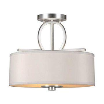 Forte Lighting 2562-03 3 Light Semi Flush Ceiling Fixture