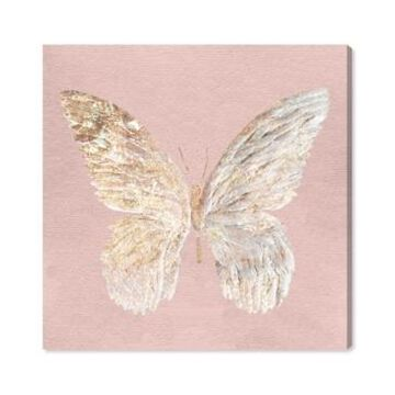 Oliver Gal Golden Butterfly Glimmer Blush Canvas Art - 12