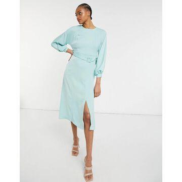 Closet London belted midi dress in mint-Green